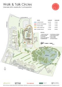 Kort over Walk  Talk banen i Lautrupparken i Ballerup. Banen er åben for alle.