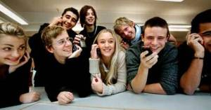 mobiltelefoner i klasserummet